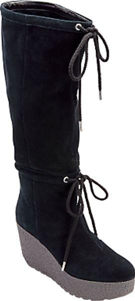 Rockport Rockport Cedra Suede Scrunched Knee Boots Black in Black