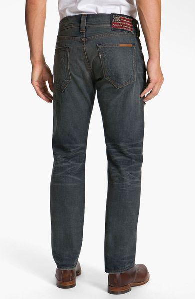 true religion phantom blake straight leg jeans in blue for. Black Bedroom Furniture Sets. Home Design Ideas