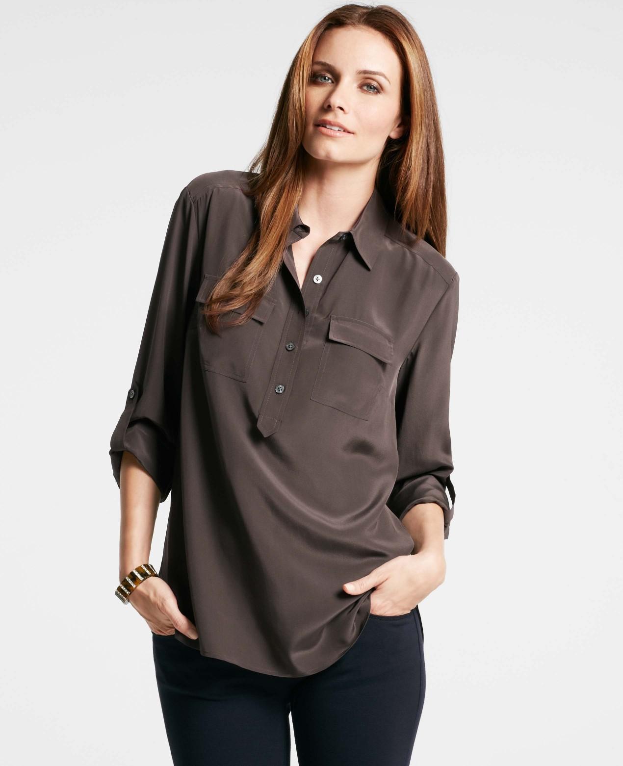 e2ed7ab8444d50 Ann Taylor Silk Camp Shirts - BCD Tofu House