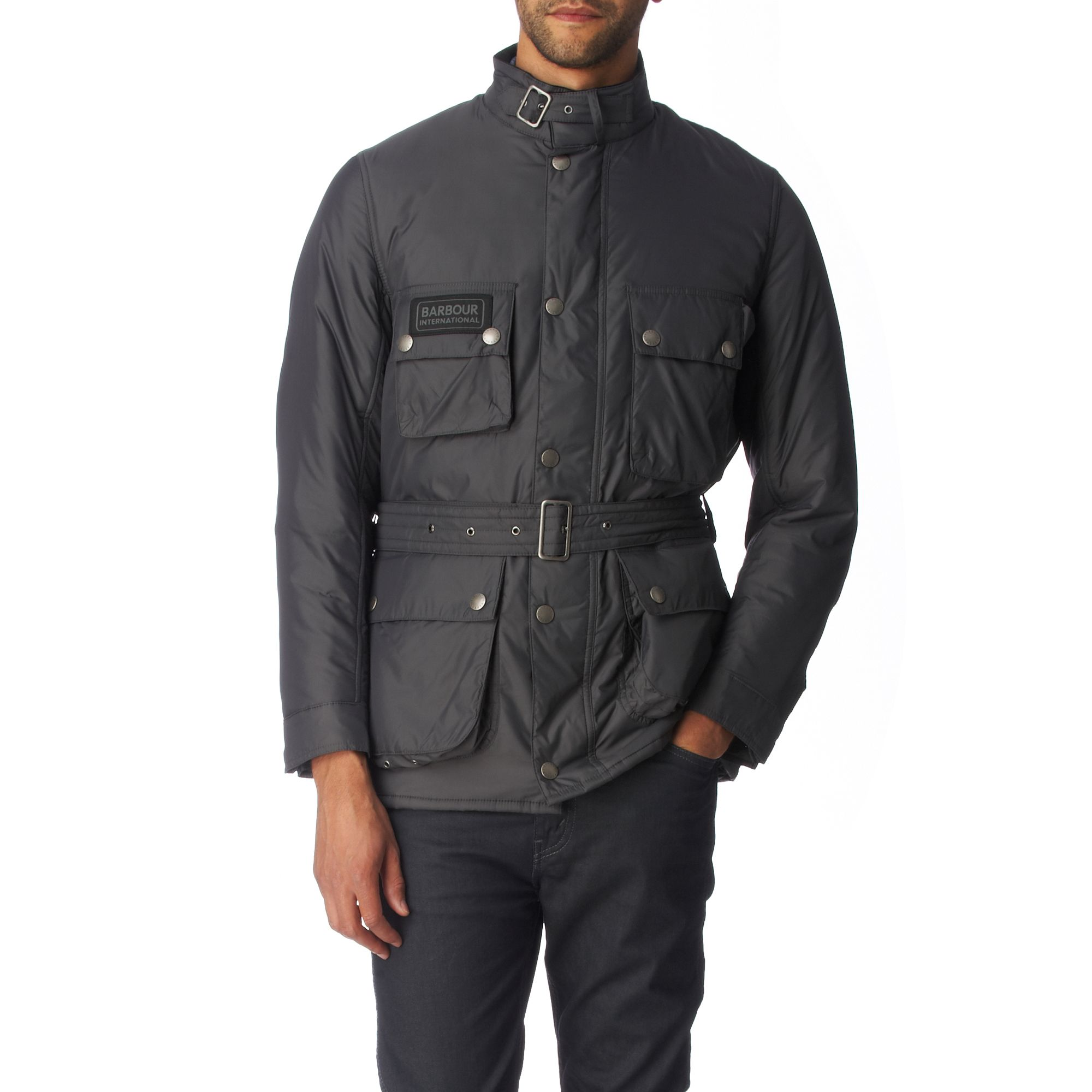 Barbour International Padded Jacket In Gray For Men