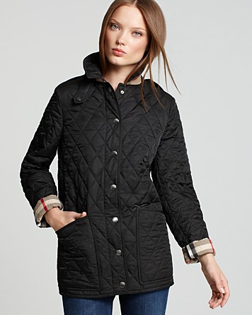 Lyst Burberry Brit Fairstead Quilted Jacket In Black