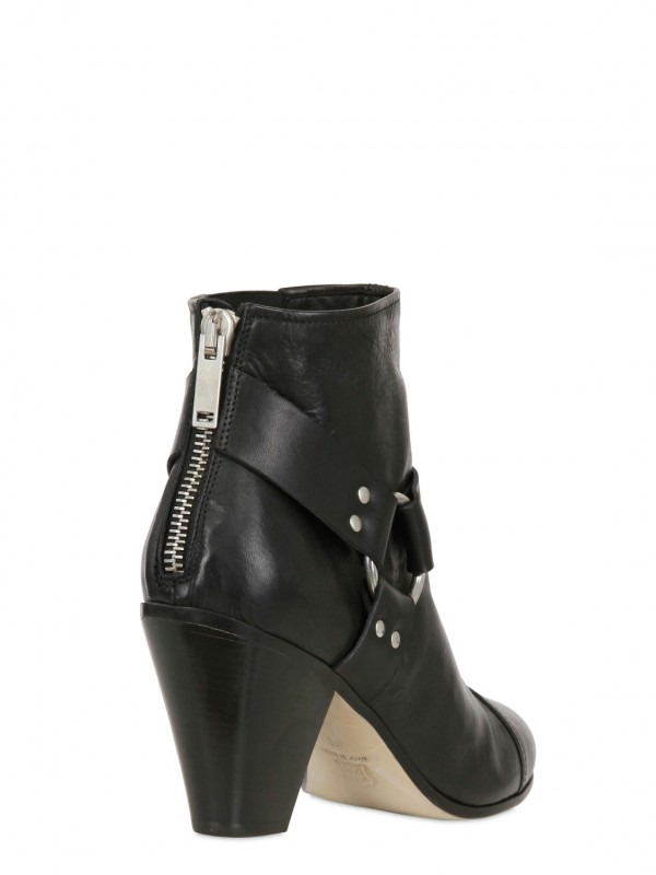 Gareth Pugh 90mm Back Zip Leather Low Boots In Black For