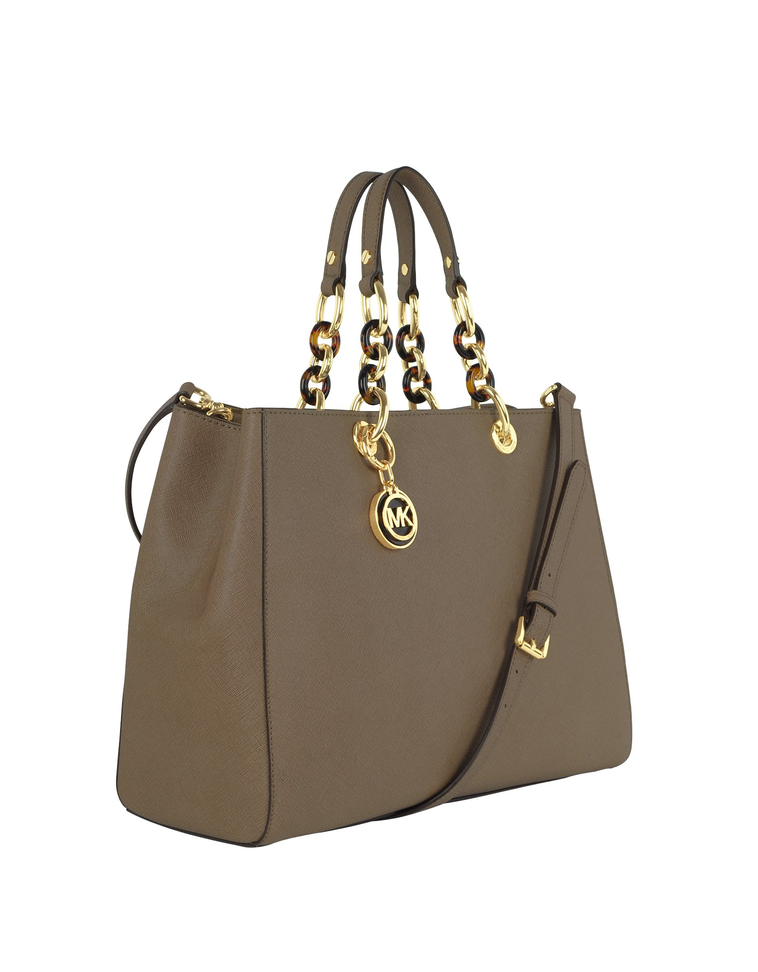 f1b55904fc2 Michael Kors Cynthia Saffiano Leather Large Satchel in Brown - Lyst