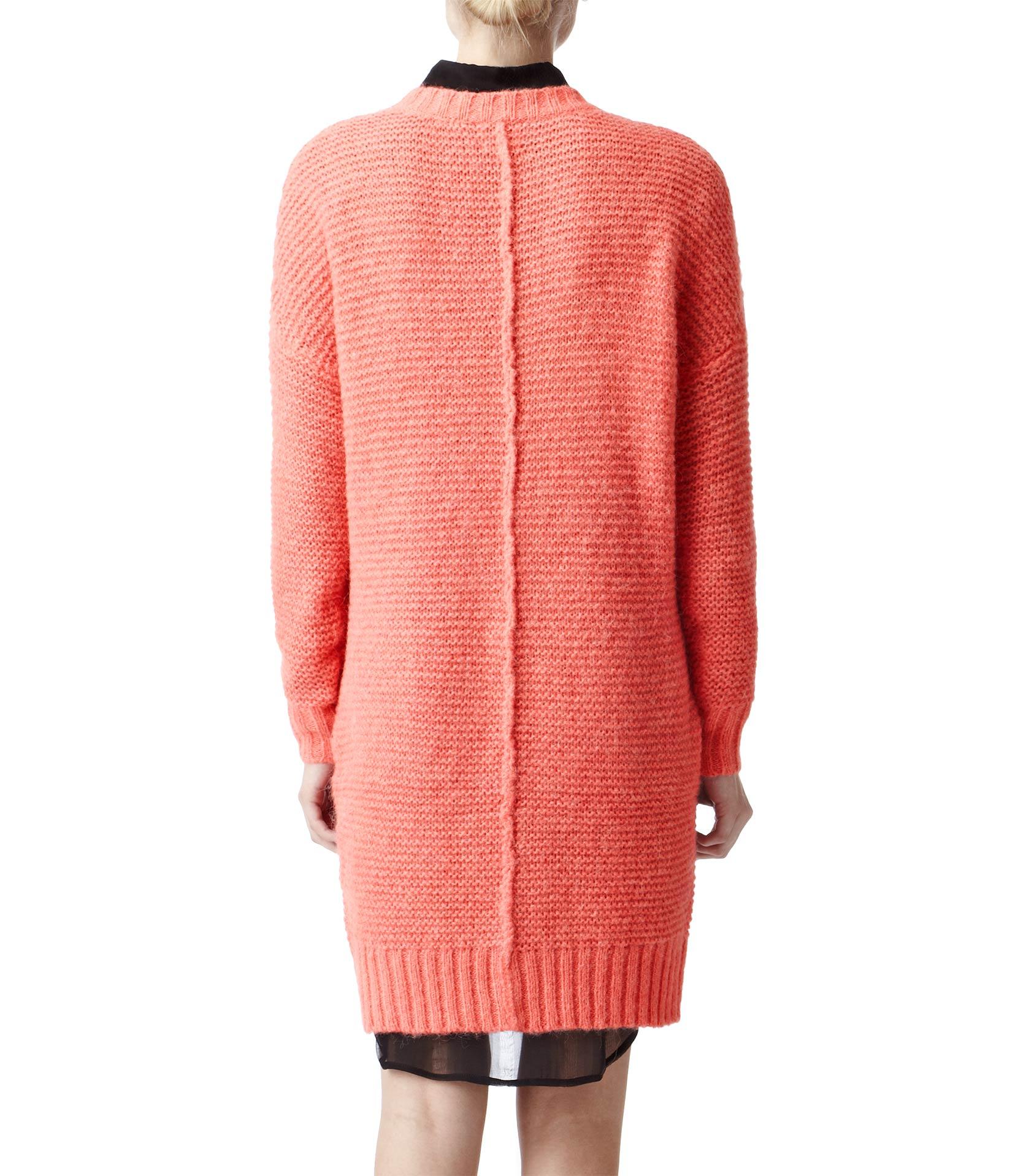 63d7ef1304 Reiss Loose Knit Dress in Pink - Lyst