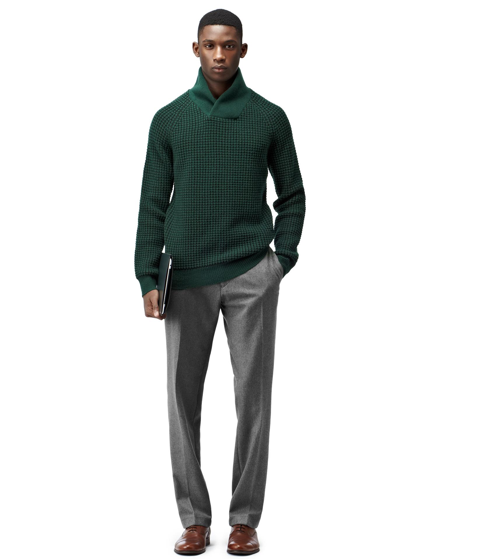 Reiss Wool Flannel Trousers in Grey (Grey) for Men