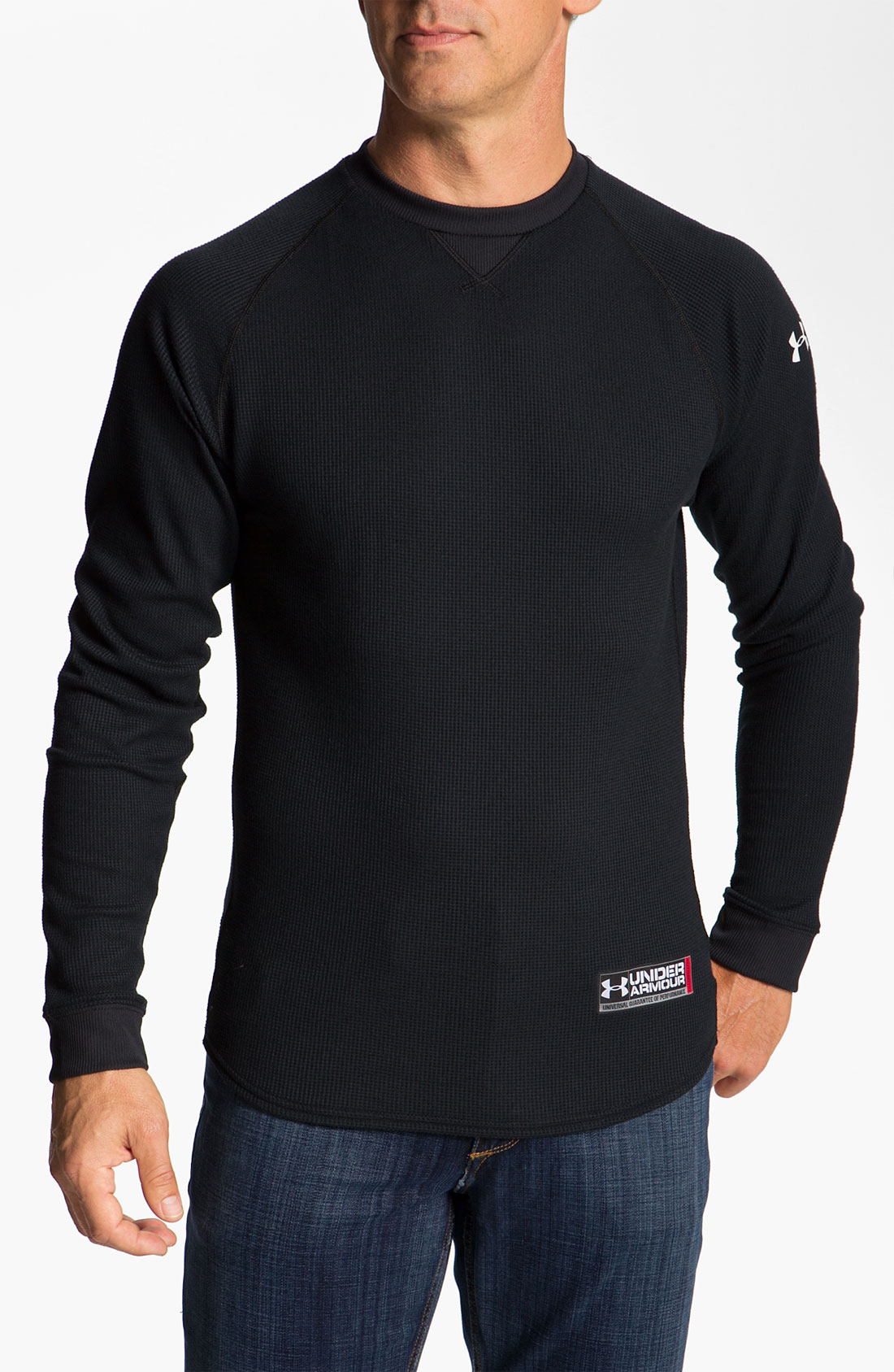 under armour coldgear thermal tshirt in black for men lyst