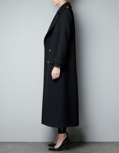 Zara Military Studio Coat In Purple Black Lyst