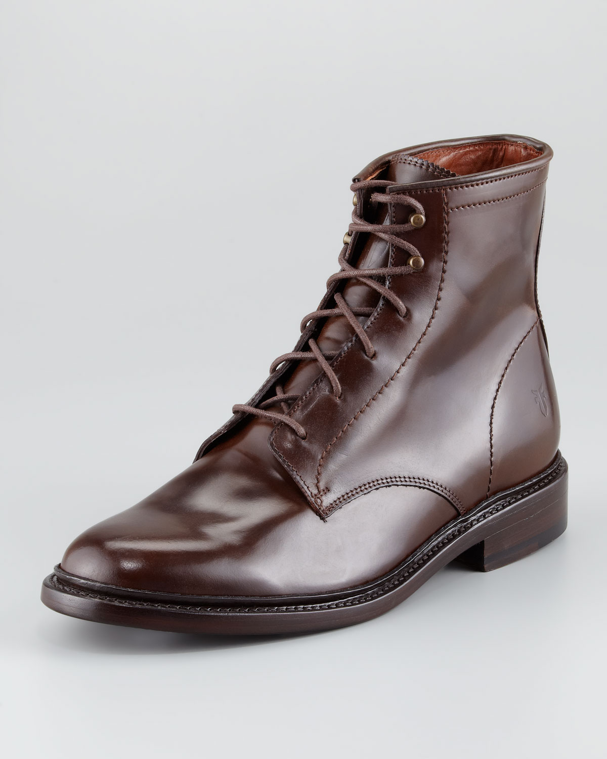 Frye James Shell Cordovan Boot in Brown