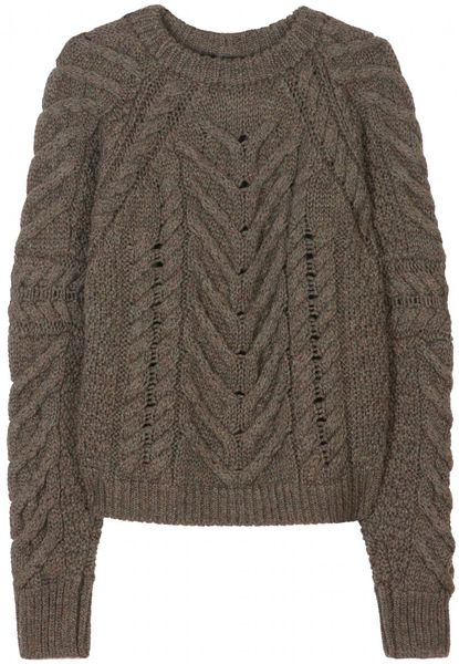 Isabel Marant Vichy Knit Pullover in Green (khaki)