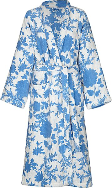 Joules joules lulu bath robe in blue lyst for Robe lm lulu