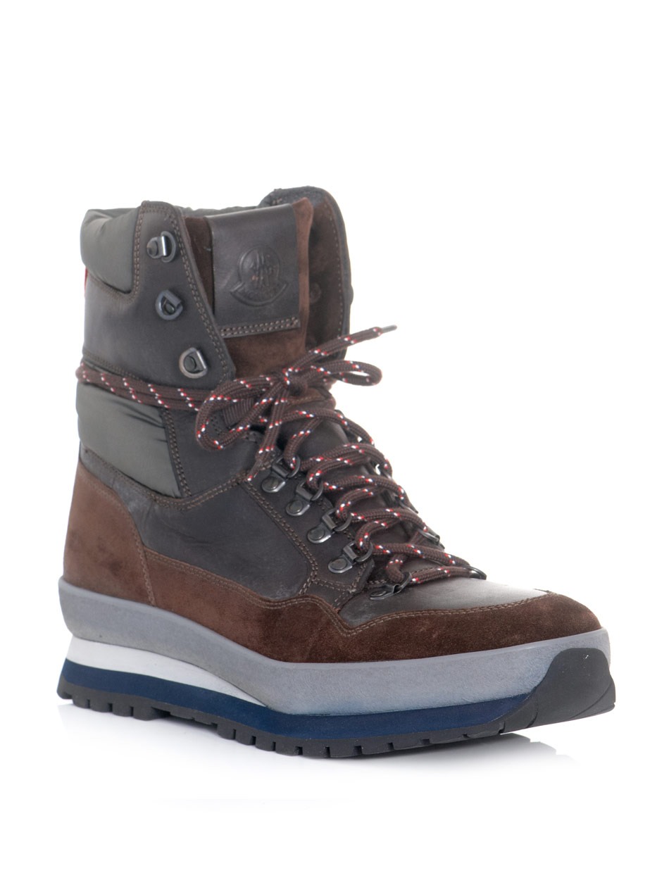 Moncler Hiking Boots In Brown For Men Lyst
