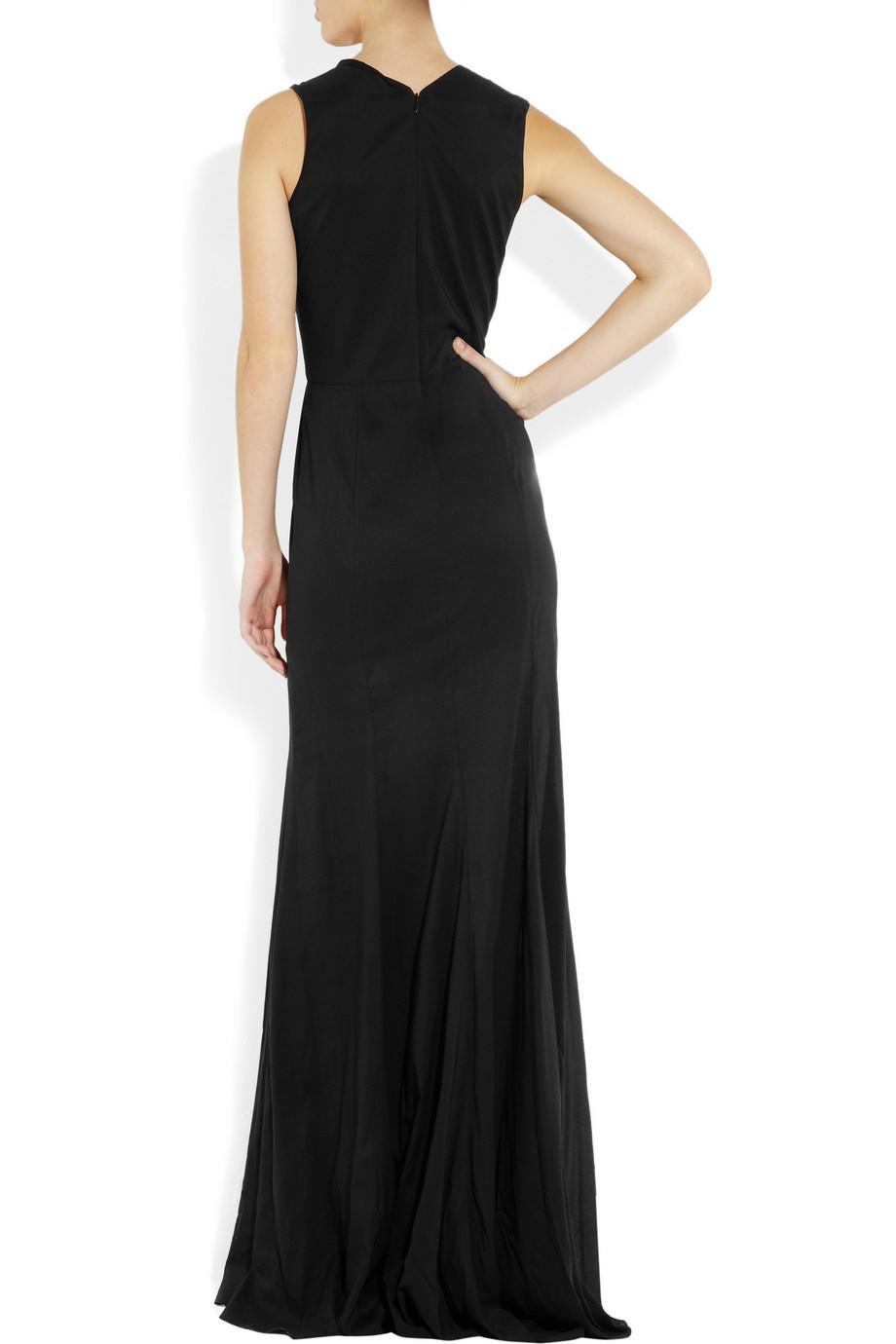 Theyskens' Theory Darisa Stretch Silk Gown in Black
