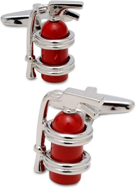 Kenneth Cole Reaction Fire Extinguisher Cufflinks in Silver for Men