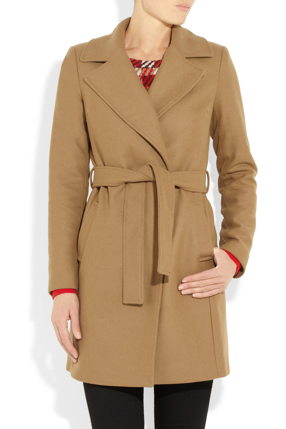 Michael Michael Kors Faux Fur And Wool Blend Coat In