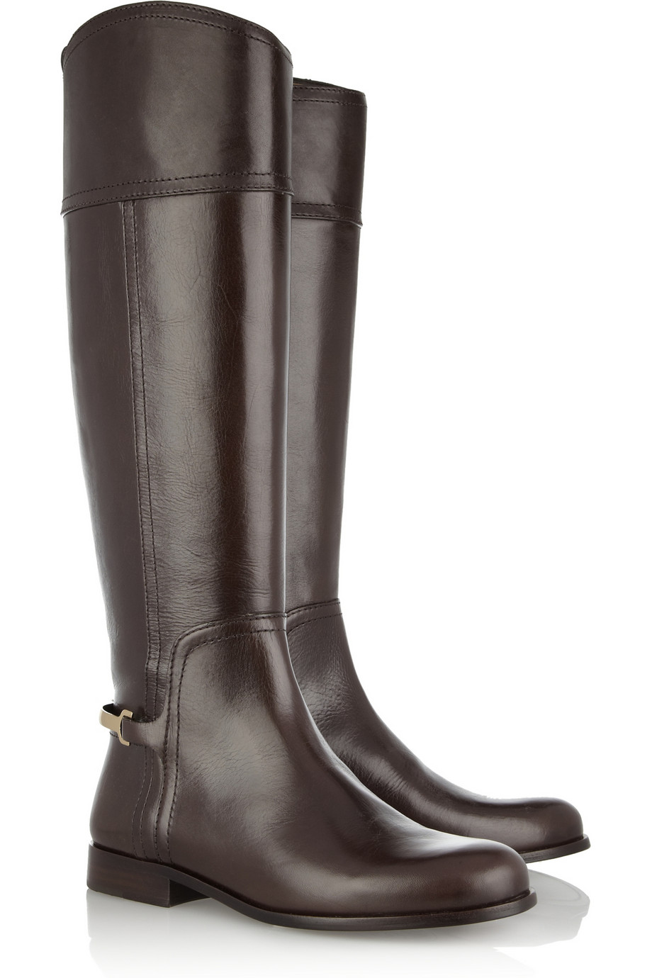 MADE ITALY BROWN LEATHER RIDING BOOTS SIZE 6 N ITALIAN EQUESTRIAN ...
