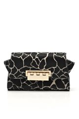 Z Spoke by Zac Posen Printed Haircalf Eartha Crossbody Clutch