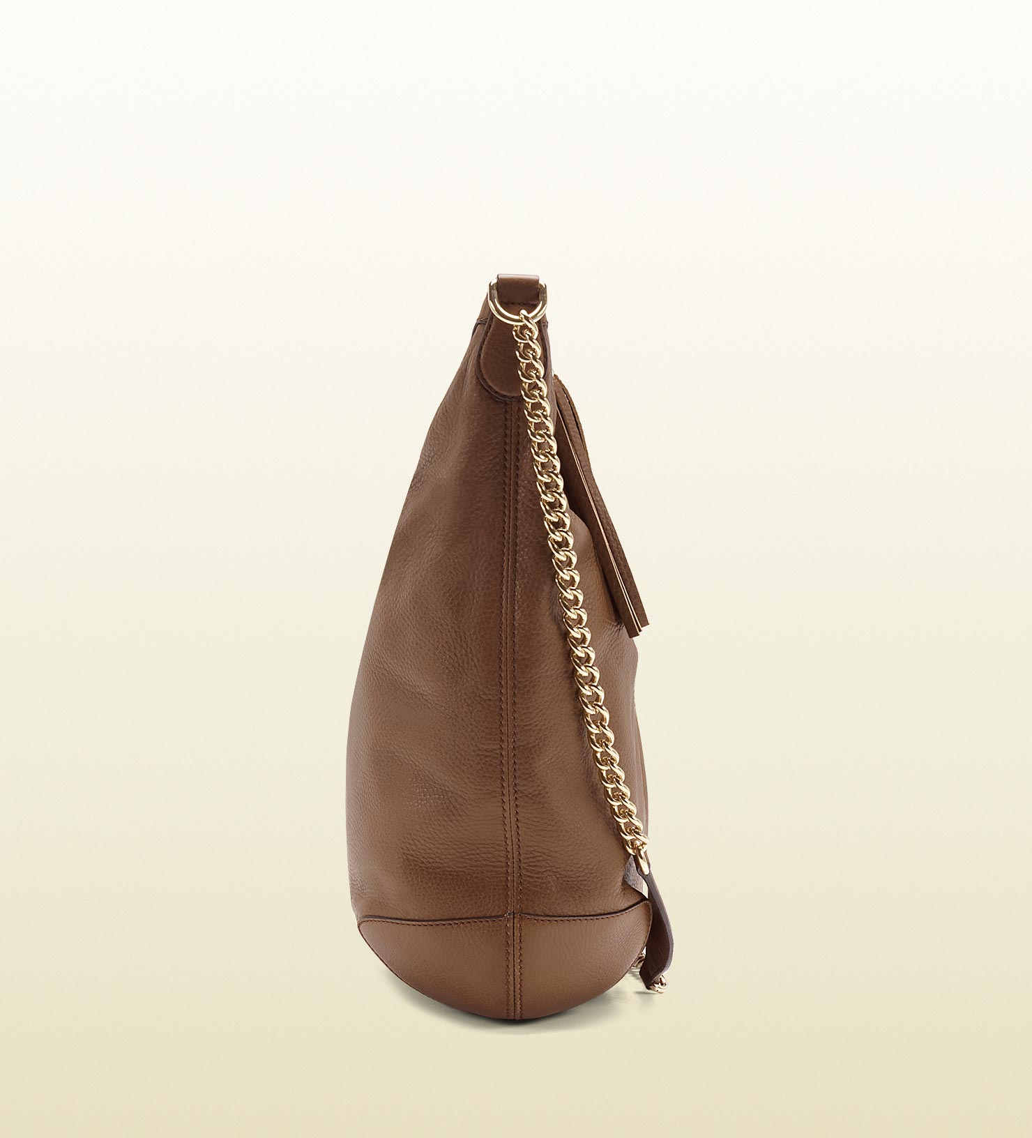 4f383539175 Lyst - Gucci Soho Maple Brown Leather Shoulder Bag with Chain Strap ...