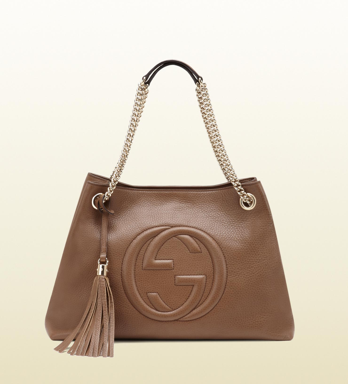 gucci soho leather shoulder bag in brown lyst. Black Bedroom Furniture Sets. Home Design Ideas