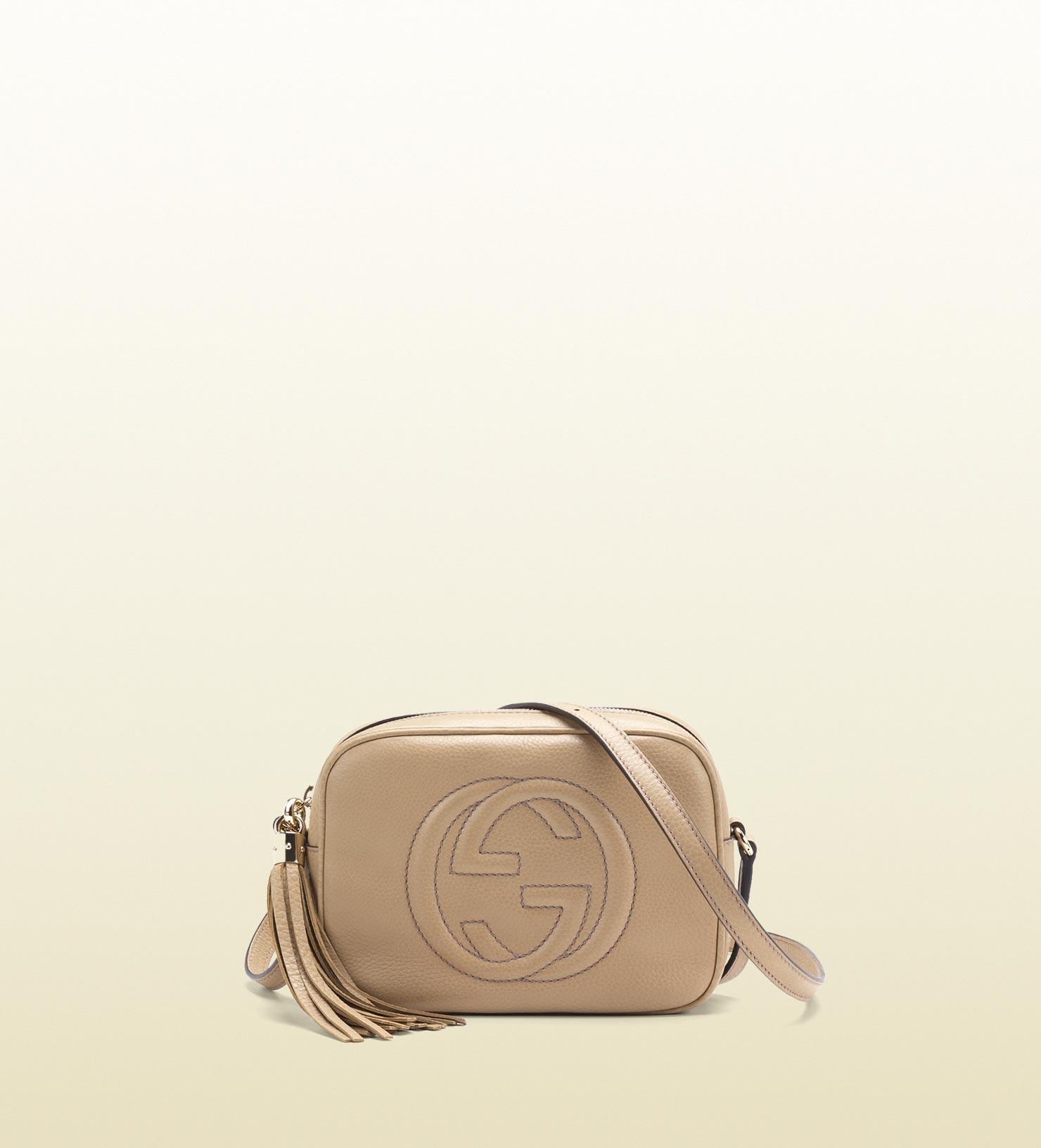 843b8a6ea046a Gucci Cream Leather Handbag - Image Of Handbags Imageorp.co