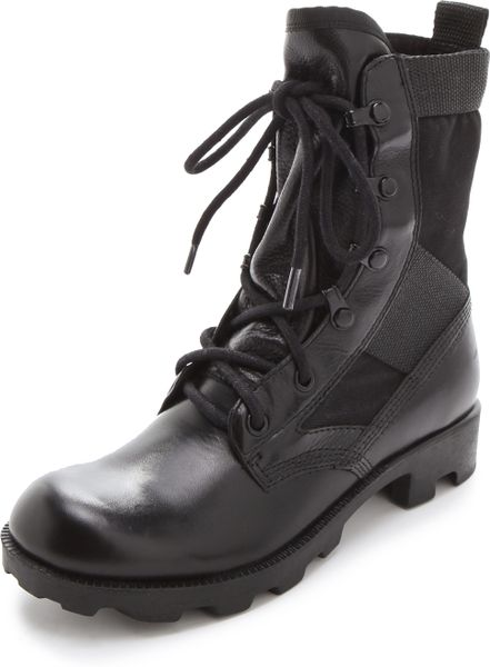 Theyskens Theory Yvanka Combat Boots In Black Lyst