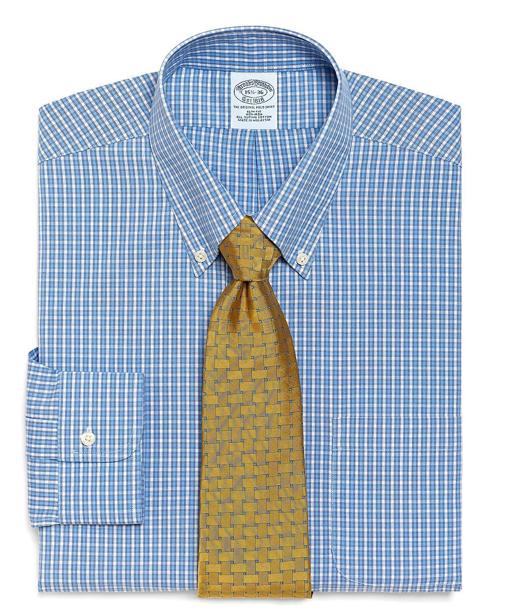 Brooks brothers supima cotton noniron slim fit small for Supima cotton dress shirts