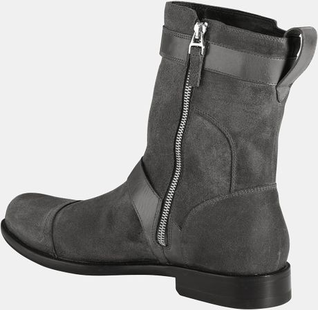 cole haan air sutton cap toe boot in gray for grey