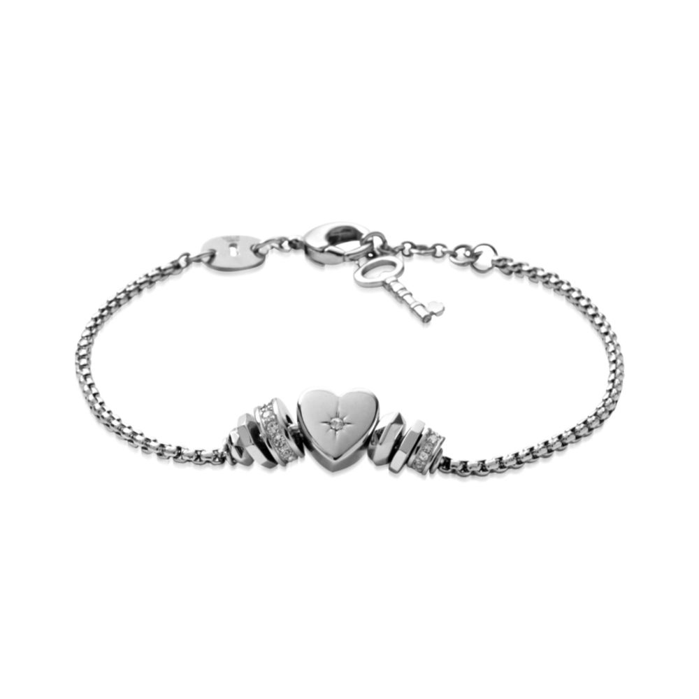 fossil jf00113040 womens bracelet in metallic lyst. Black Bedroom Furniture Sets. Home Design Ideas