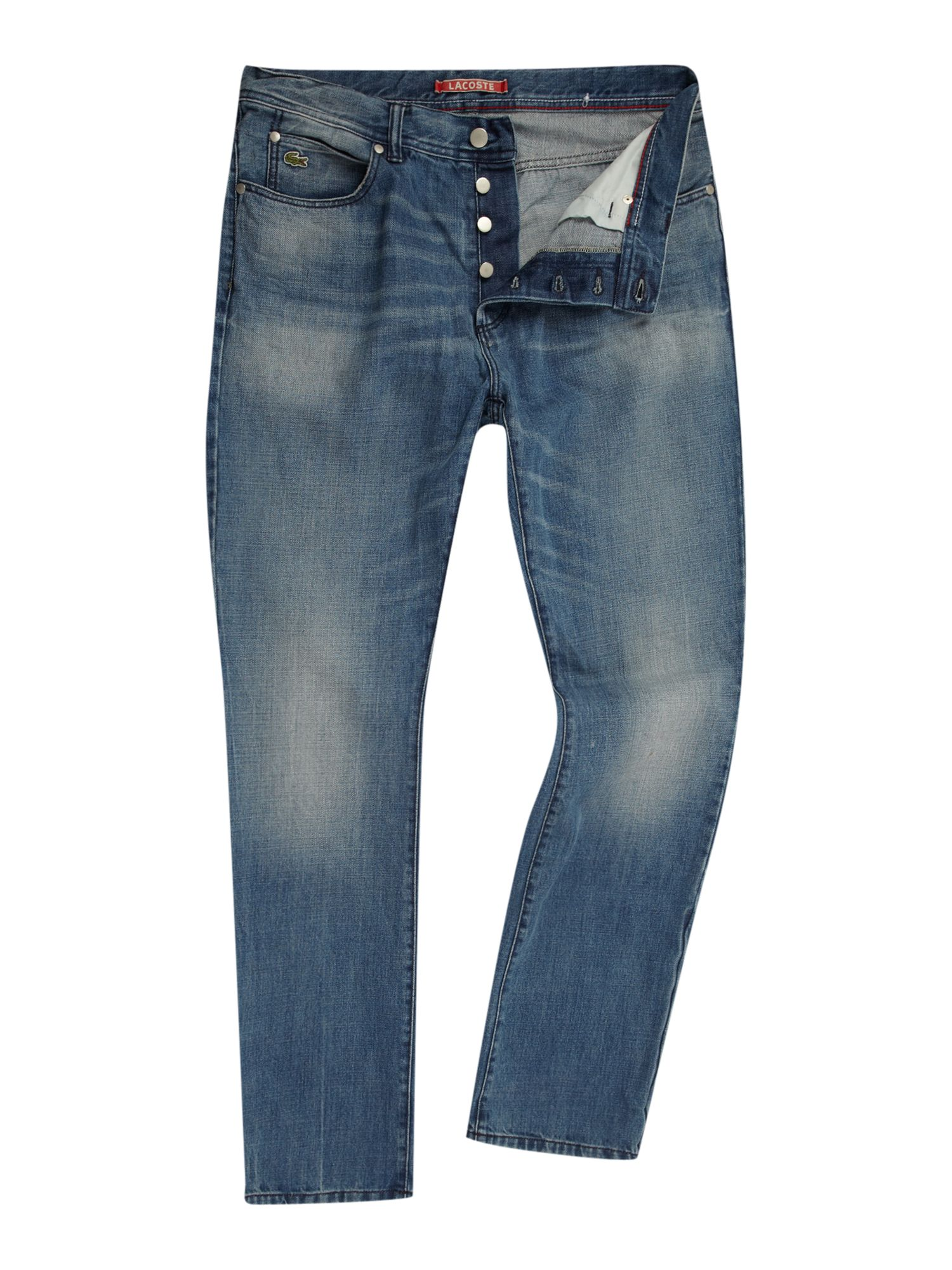 Lacoste Live Slim Fitted Jeans In Blue For Men Denim