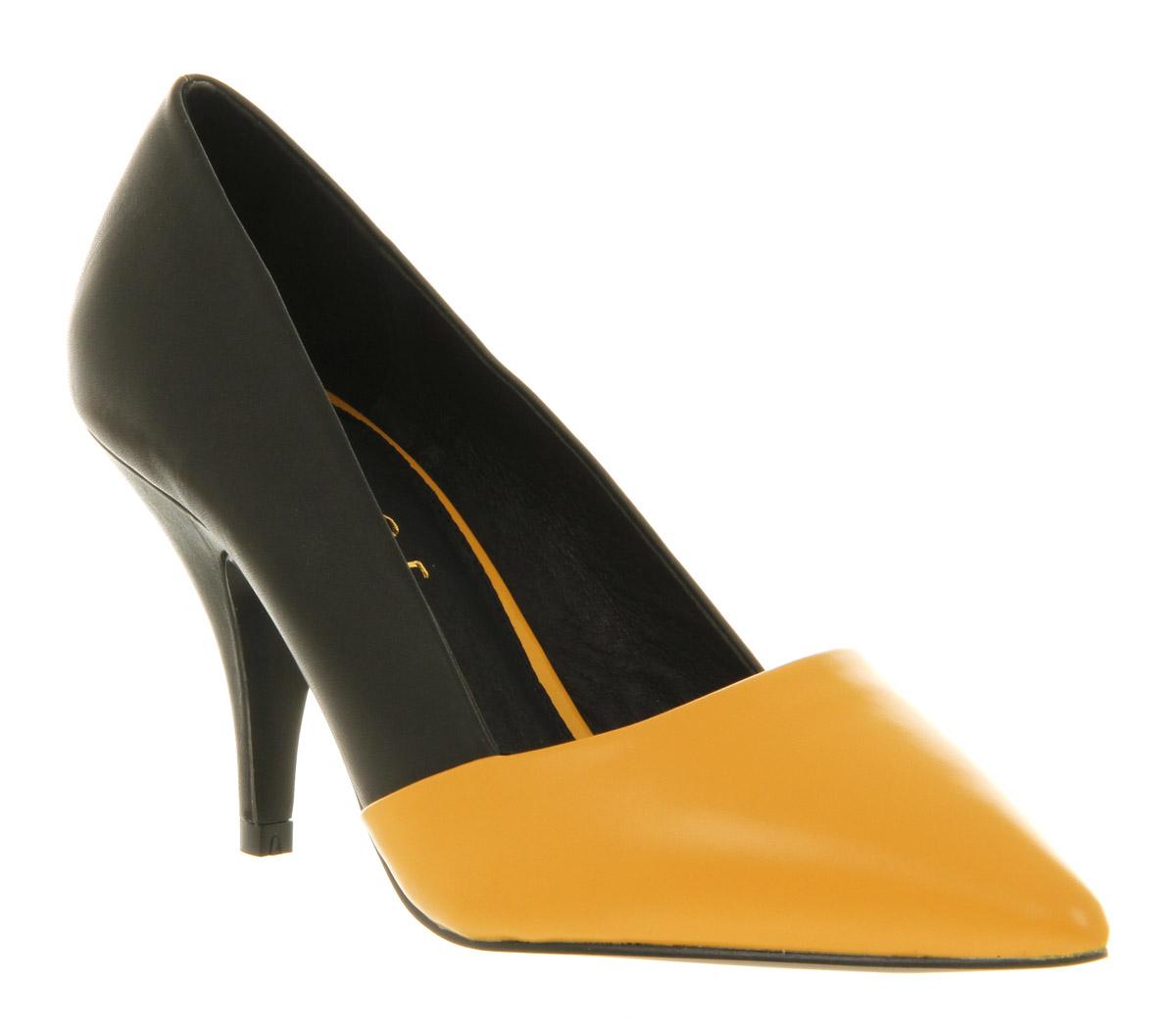 Office Black Court Shoes
