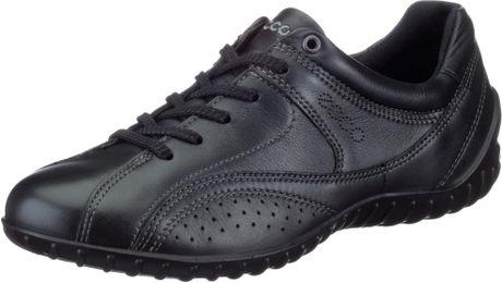 ecco ecco womens charm tie walking shoe in black lyst