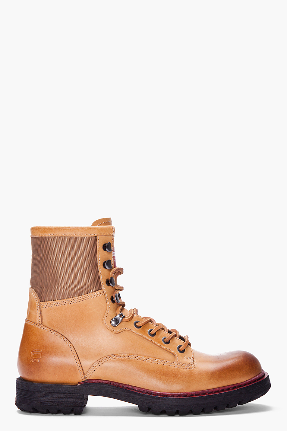 G Star Raw Beige Leather Legion Sasson Boots In Beige For