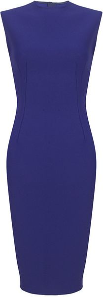 Lanvin Neoprene Pencil Dress in Blue - Lyst