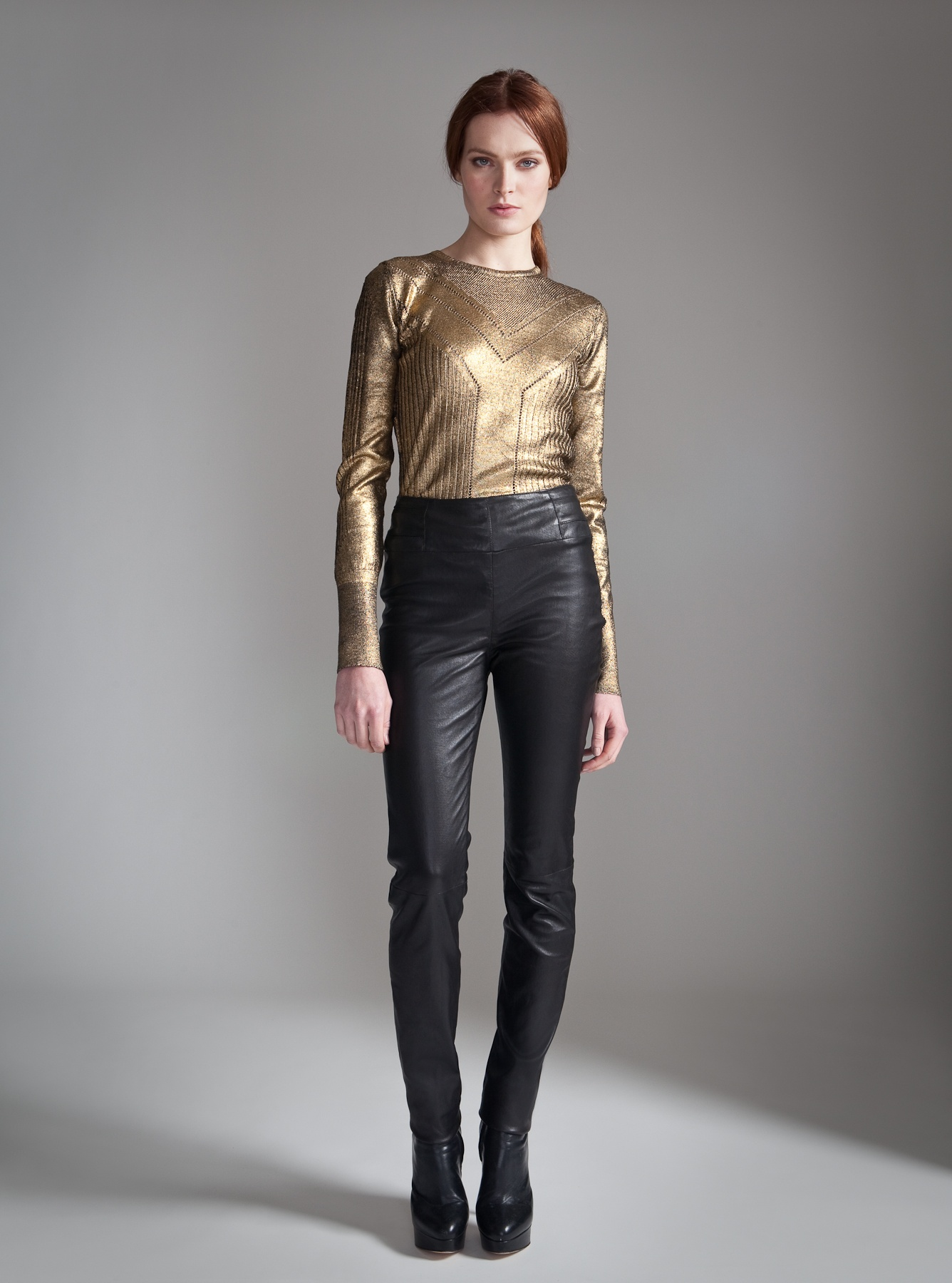 Temperley London Classic Harmony Leather Trousers In Black