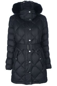 Burberry Brit Belt Padded Jacket - Lyst