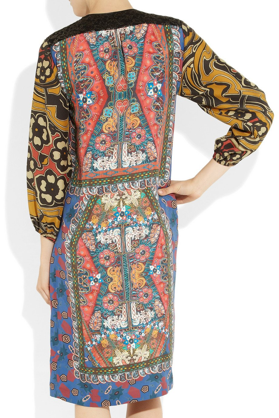 Clements Ribeiro Amelia Printed Silk Dress In Multicolor