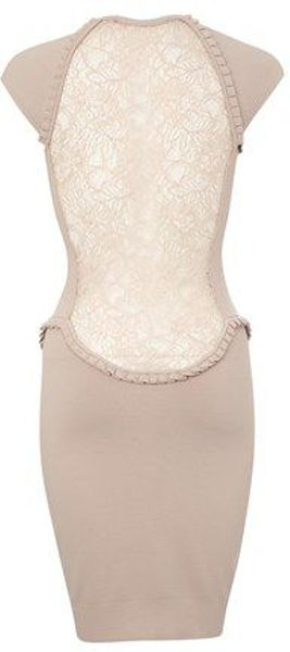 French Connection Tdani Crepe Cap Sleeve Roundneck Dress in Pink (cream)