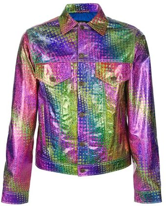 Jeremy Scott Hologram Jean Jacket - Lyst