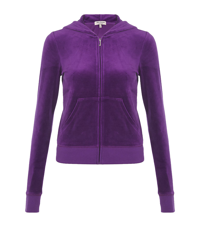 Juicy Couture Heritage Velour Tracksuit Top in Purple - Lyst