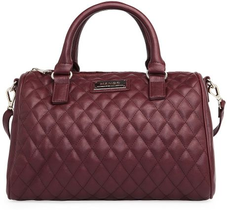 Mango Touch Quilted Bowling Bag in Purple (52)