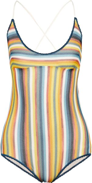 Missoni Sciarpa Crochetknit Swimsuit in Multicolor (multicolored)