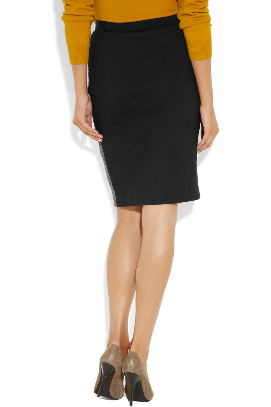 Boutique moschino Sequin Pencil Skirt in Black