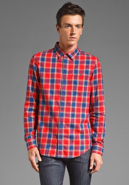 Original penguin long sleeve flannel with elbow patch in for Mens flannel shirt with elbow patches
