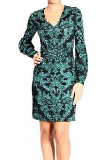 Long Sleeve Sequin Dress on Roberto Cavalli V Neck Long Sleeve Jersey Sequin Print Dress   Lyst