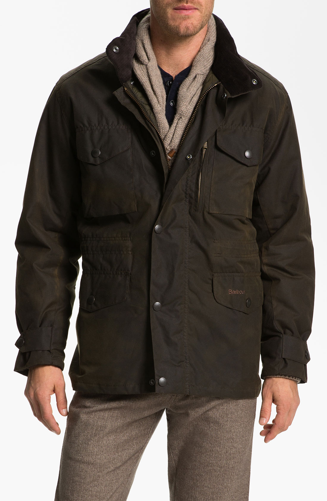 Barbour Sapper Regular Fit Waterproof Waxed Cotton