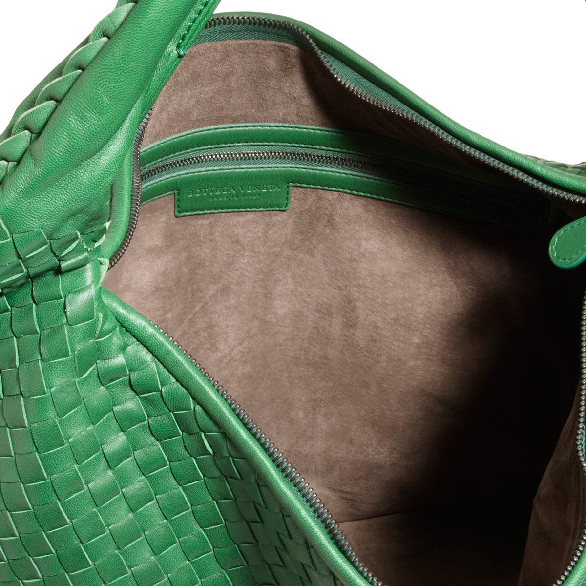 Bottega veneta Maxi Intrecciato Hobo Bag in Green  e7497cab979b9