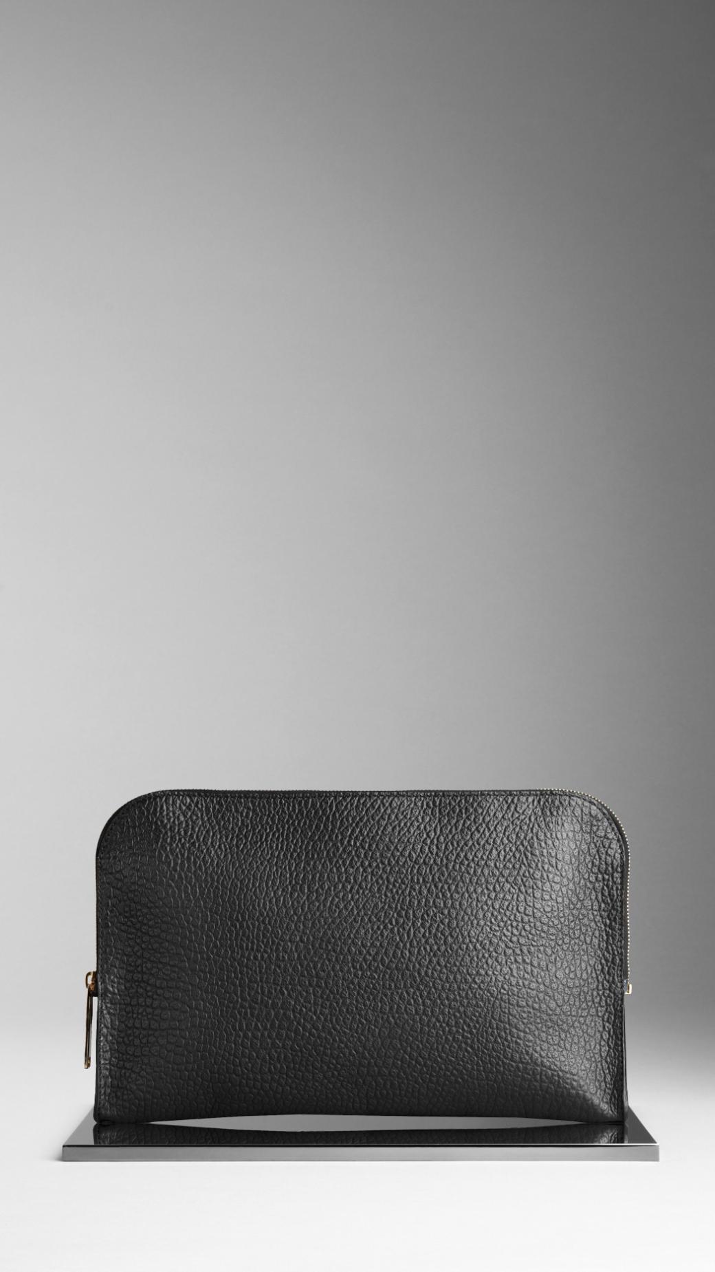 Lyst Burberry Elephant Grain Print Leather Portfolio