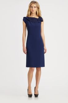Elie Tahari Draped Neck Sheath - Lyst