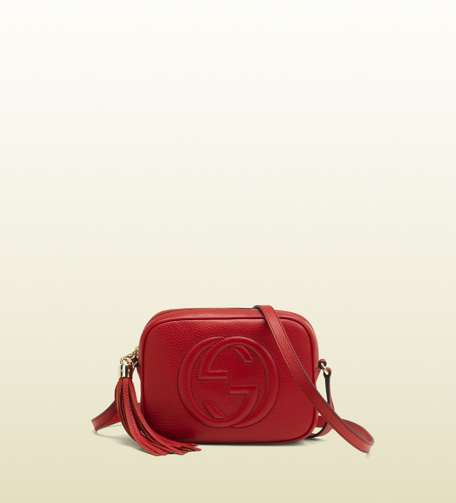 cc745b229711 Gucci Soho Leather Disco Bag in Red - Lyst