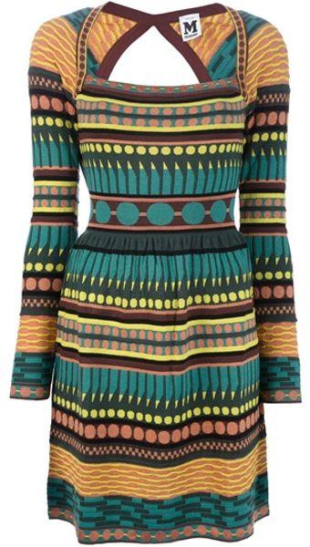 M Missoni Cutout Sweater Dress in Multicolor (multi)