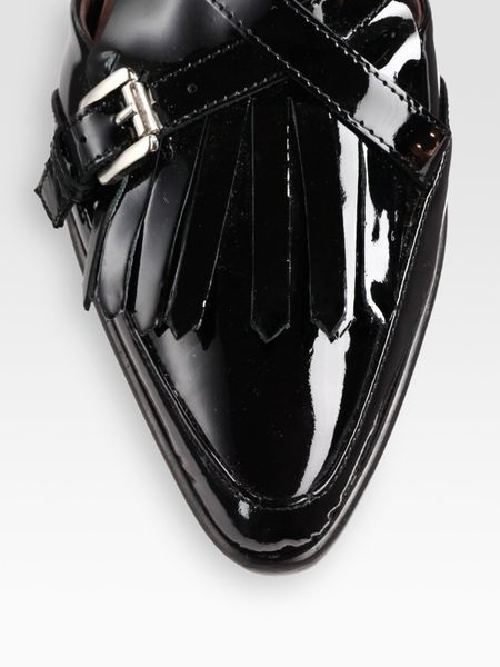 Tabitha Simmons Patent Leather Mary Jane Buckle Ankle